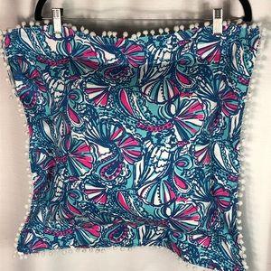 Lilly Pulitzer My Fans 20x20 Pillow & New Insert